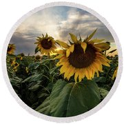 Round Beach Towel featuring the photograph Sun Rays  by Aaron J Groen