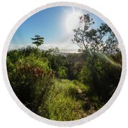 Sun Shining Over The Atlantic Forest Round Beach Towel