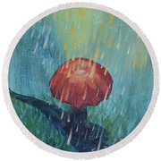 Sun Showers Round Beach Towel