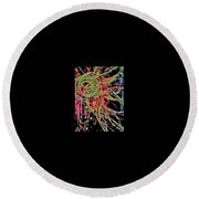 Sun Burst II Round Beach Towel