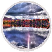 Round Beach Towel featuring the photograph Sun Streaks On West Lake by David Patterson
