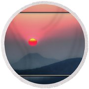 Sun Teed Up Round Beach Towel