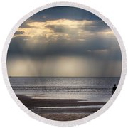 Sun Through The Clouds 2 5x7 Round Beach Towel