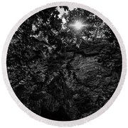 Sun Through The Trees Round Beach Towel by Paul Seymour
