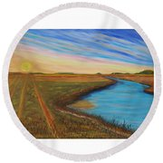 Sun Up Round Beach Towel