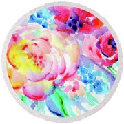 Sun Washed Pink Round Beach Towel by Nada Meeks