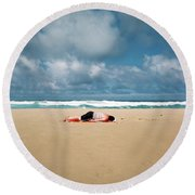 Sunbather Round Beach Towel