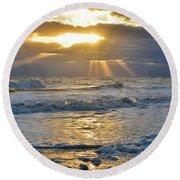 Sunbeams  Round Beach Towel