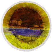 Sunburst Round Beach Towel by Mary Ward