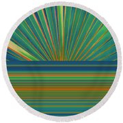 Round Beach Towel featuring the photograph Sunburst by Michelle Calkins