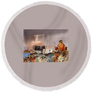 Sunburst Over Dugort, Achill Round Beach Towel