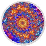 Sunburst Supernova Round Beach Towel