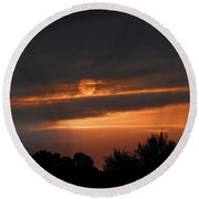 Round Beach Towel featuring the photograph Suncloud by Mark Blauhoefer