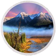Round Beach Towel featuring the photograph Sundance by John Poon