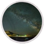 Round Beach Towel featuring the photograph Sundance Milky Way by Fiskr Larsen