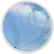 Sunday Angels  Round Beach Towel