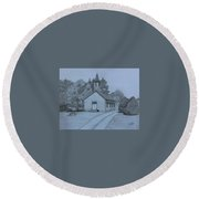 Sunday In Fairview  Round Beach Towel