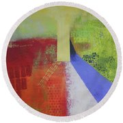 Sunday Sunrise Round Beach Towel