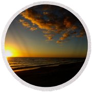 Sunday Sunset Redington Beach Round Beach Towel