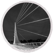 Sundial Bridge 2 Round Beach Towel