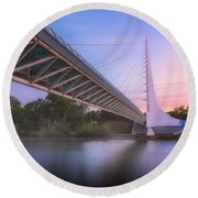 Sundial Bridge 6 Round Beach Towel