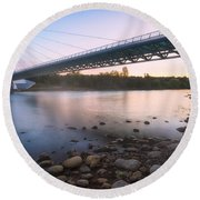 Sundial Bridge 7 Round Beach Towel