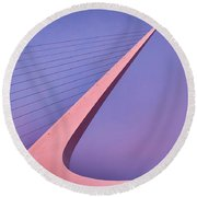 Sundial Bridge Round Beach Towel
