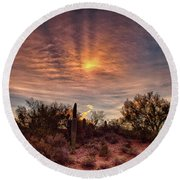 Sundog Round Beach Towel