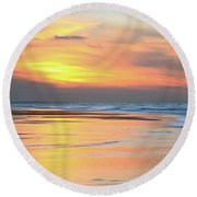 Round Beach Towel featuring the photograph Sundown At Race Point Beach by Roupen  Baker
