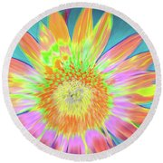 Sunfeathered Round Beach Towel