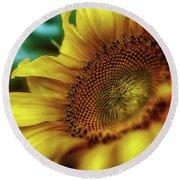 Sunflower 2006 Round Beach Towel