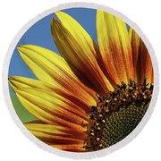 Sunflower 38 Round Beach Towel