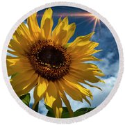Sunflower Brilliance II Round Beach Towel