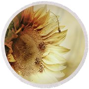 Sunflower Days Round Beach Towel