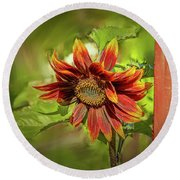 Sunflower #g5 Round Beach Towel