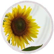 Sunflower Minimal Round Beach Towel by Joseph Skompski