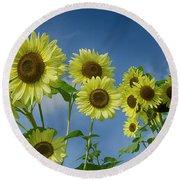 Sunflower Party Round Beach Towel