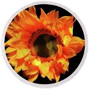 Sunflower Passion Round Beach Towel