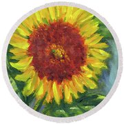 Sunflower Seed Packet Round Beach Towel
