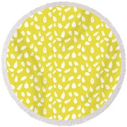 Sunflower Seeds- Art By Linda Woods Round Beach Towel