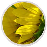 Sunflower Side Round Beach Towel