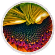 Sunflower Smoothie Round Beach Towel