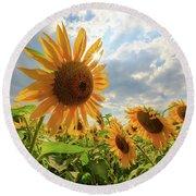 Sunflower Star Round Beach Towel