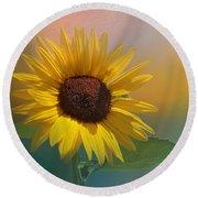 Sunflower Summer Round Beach Towel
