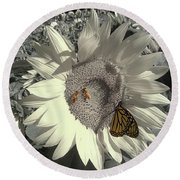 Sunflower Tint Round Beach Towel