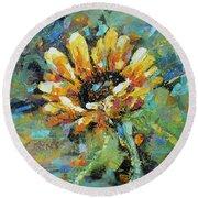 Sunflowers II Round Beach Towel