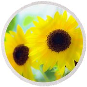 Sunflowers Round Beach Towel