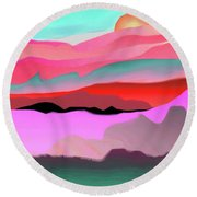 Round Beach Towel featuring the digital art Sunland 3 by Mary Armstrong