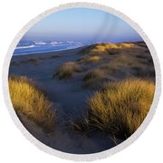 Sunlight On The Beach Grass Round Beach Towel