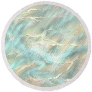 Round Beach Towel featuring the digital art Sunlight On Water by Amyla Silverflame